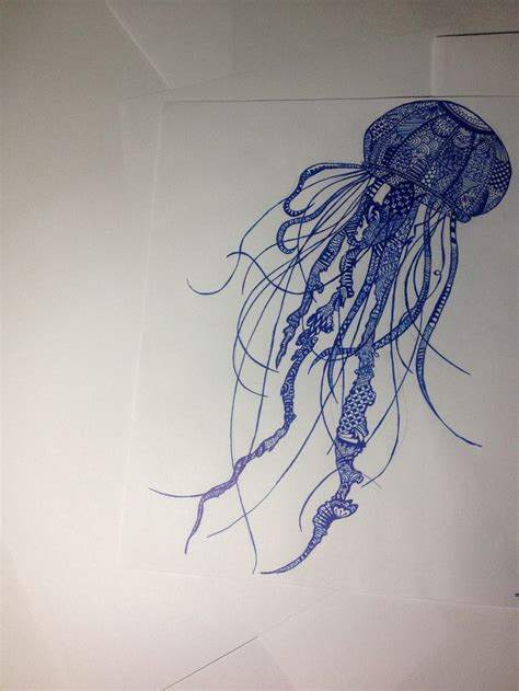 Drawing Jellyfish by Jellyfish Pencil Drawing