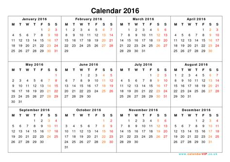 2016 Calendar By Month Calendar 2016 Uk Free Yearly Calendar Templates For Uk