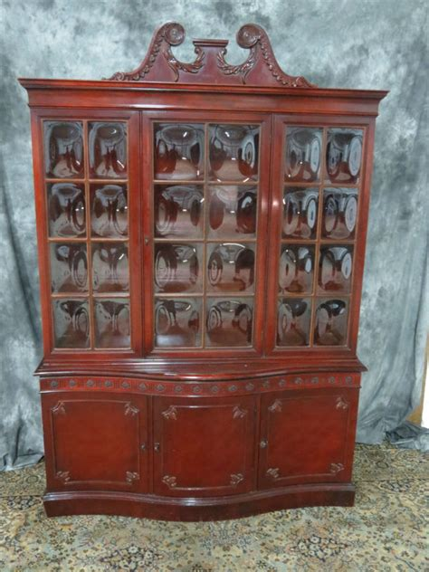 antique mahogany china cabinet with glass casey