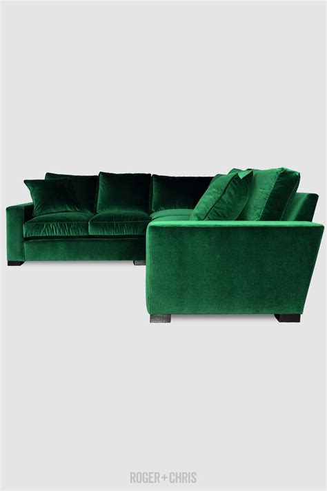 Green Sectional by Cole Sofas And Armchairs From Roger Chris Living With