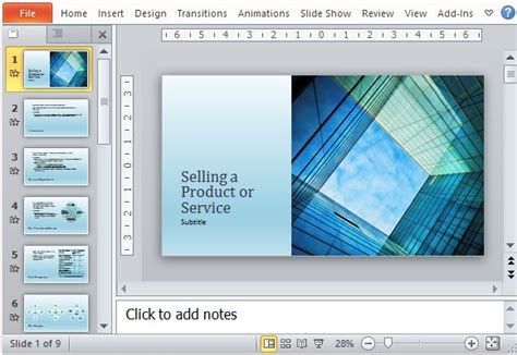 Business Sales Presentation Template For Products And Services Powerpoint Templates Sales Presentation