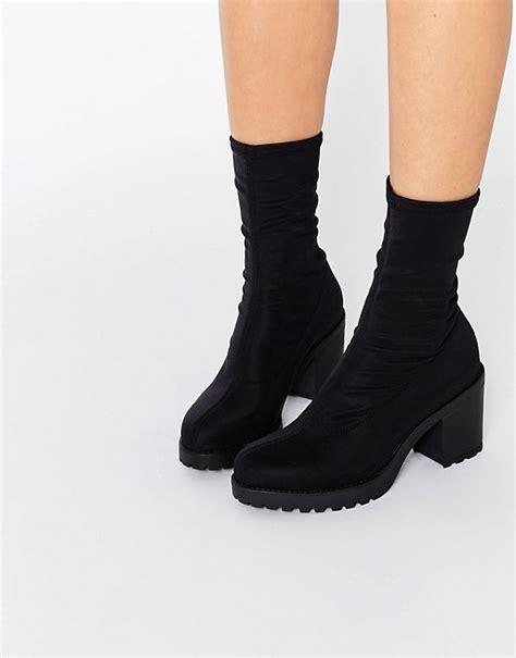 sock boots new look vagabond vagabond grace black chunky sock boots