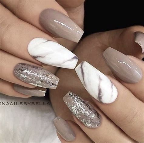 light brown nail light brown marble nails nails marbles