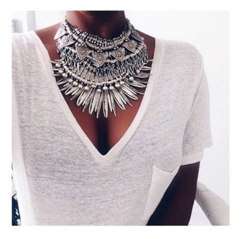 Turkey Maxi Golden jewels necklace silver boho bohemian statement