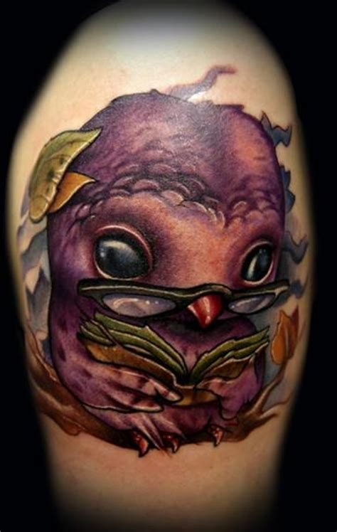 cartoon tattoo artist designs tattoos of owls give wisdom to 171 articles