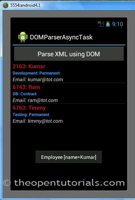 android tutorial xml parsing android how to use xml dom parser with asynctask 187 the