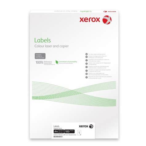 Xerox Labels A4 500 Pcs Ebuyer Xerox Labels 33 Per Sheet