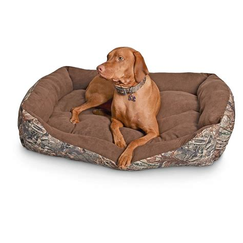 cuddler dog bed cuddler rectangle dog bed mossy oak camo 657470