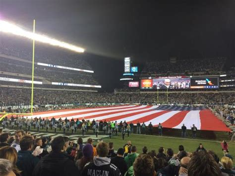 night section view from section 112 picture of lincoln financial field