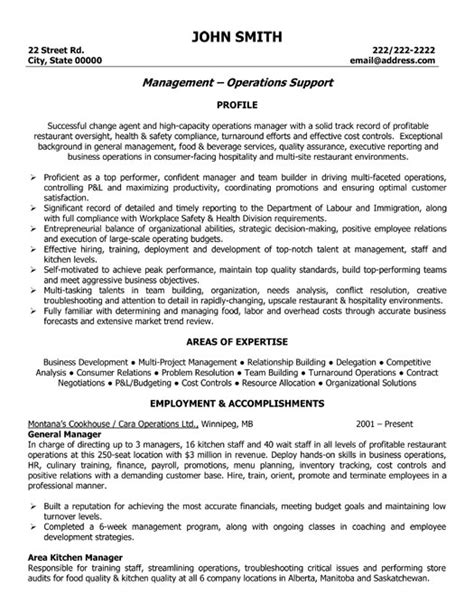 restaurant general manager resume berathen