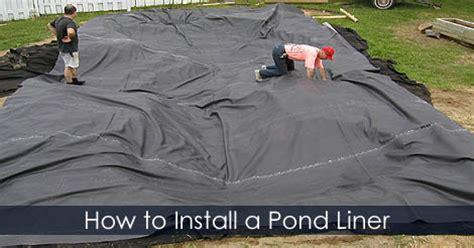installing a backyard pond installing a pond liner water garden building steps