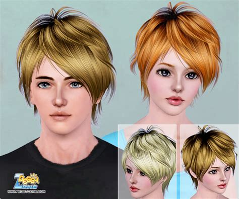 the sims 2 downloads fringe hairstyles the sims 3 messy haircut id 461 by peggy zone