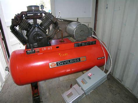 devilbiss model 445 air compressor 15hp horizontal tank 300psi
