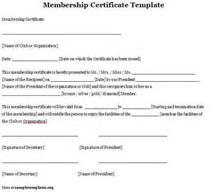 Certification Letter Of Membership Sample Club Membership Template Images