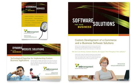 software brochure template software flyer ad template word publisher
