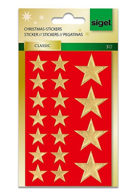 Aufkleber Sterne Weihnachten by Sigel Weihnachts Aufkleber Sticker Gro 223 E Goldene Sterne 54
