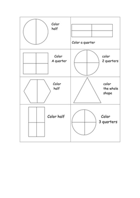 quarter colors halves and quarters by jodieadams91 teaching resources tes