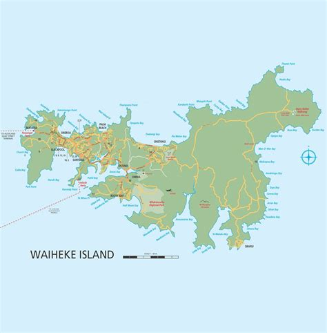 islands map auckland s hauraki gulf a guide to the islands new zealand rent a car