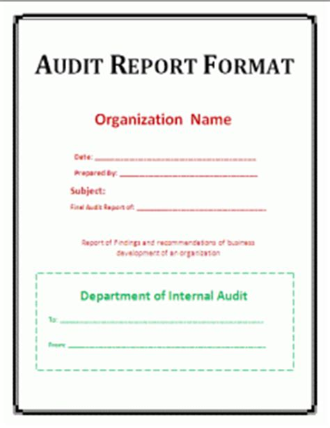 sle of audit report format sales report format template