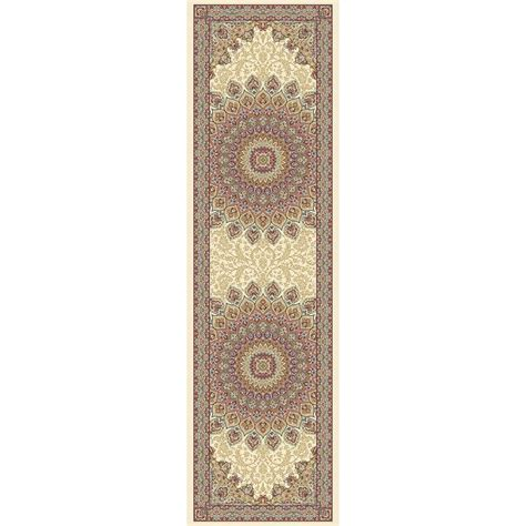 ivory 2 ft 2 in x 11 ft indoor rug runner