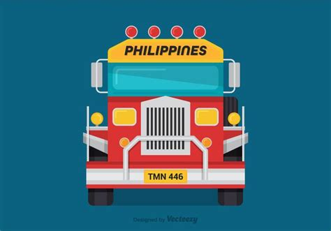 philippines jeepney vector free vector jeepney front view download free vector art