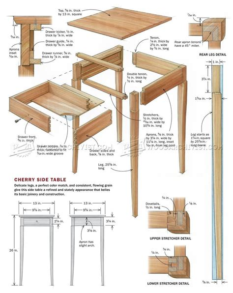 how to build a side table build side table woodarchivist