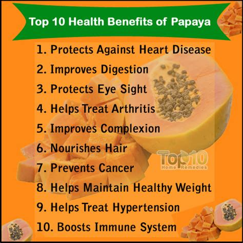 Papaya For Health And by Top 10 Health Benefits Of Papaya And Papaya Seeds Top 10