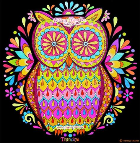 nature mandalas coloring book thaneeya mcardle colorful owl by thaneeya mcardle the line for