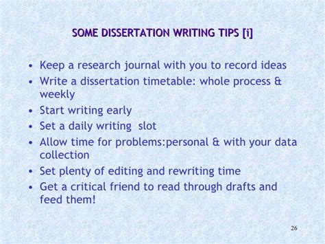 tips for writing a dissertation writing dissertations