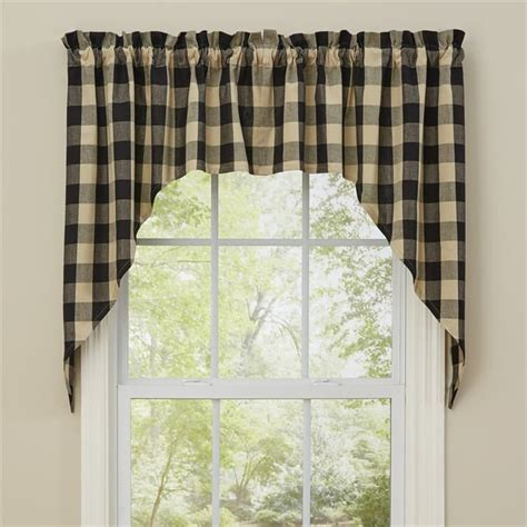 black swag curtains black wicklow window curtain swag 72 quot x 36 quot park designs