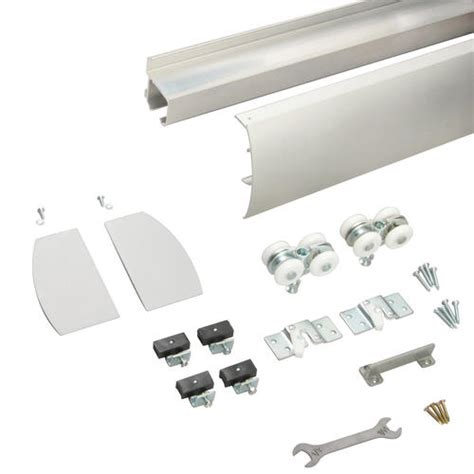 Wall Mount Sliding Door Hardware by Metro Wall Mount Space Saver Fascia And Track Sliding Door