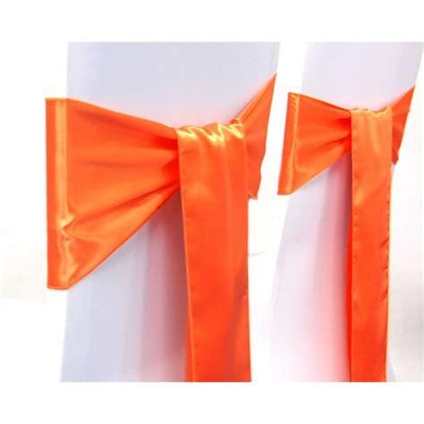 Noeud De Chaise by Noeud De Chaise Pour Mariage En Satin Orange Decoration