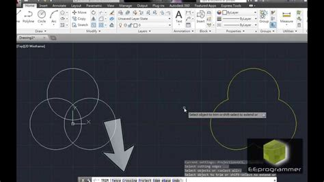 Autocad Tutorial Trim Command | autocad 2014 tutorial learn trim and circle commands in 2