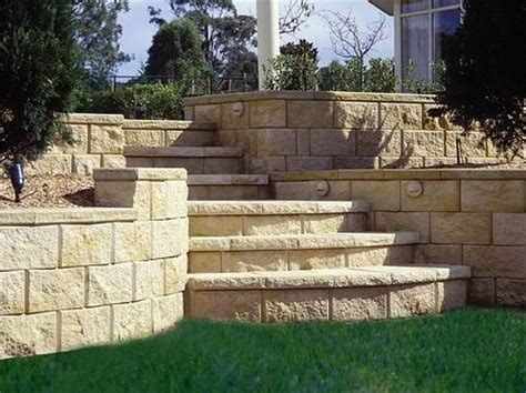Retaining Wall Cost With Stairs Stone Pools Pinterest Garden Wall Cost