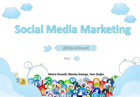 free social media powerpoint template social media marketing 2012 2013