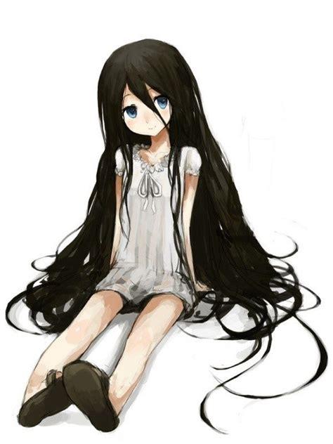 anime girl with black hair and blue eyes cute anime girls with black hair google search anime