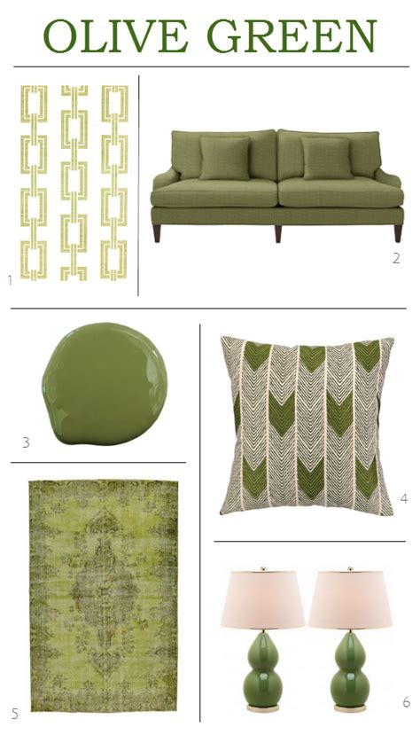 get the look olive green decor simplified bee