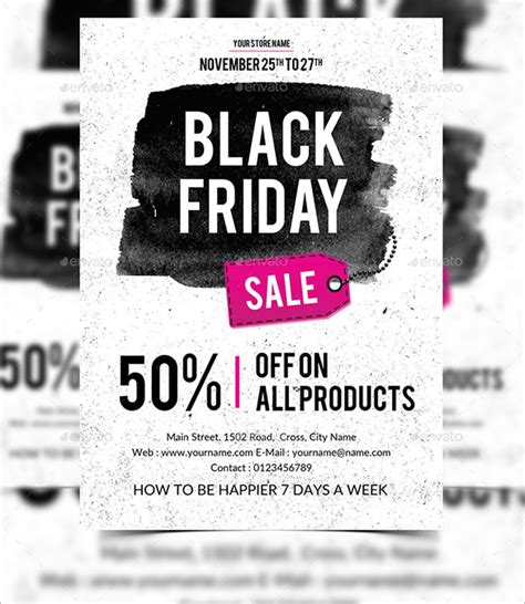 Black Friday Sale Flyer Template 26 black flyer templates psd ai free
