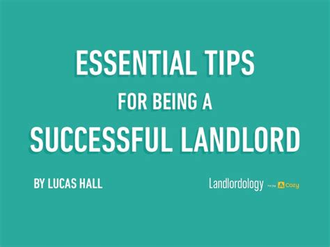 8 Tips On Being More Successful In by Essential Tips To Being For Successful Landlord