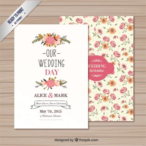 free vector template wedding card wedding invitation template vector free