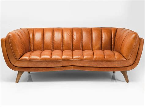 sofa kare 3 seater leather sofa bruno by kare design