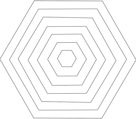 hexagons templates hexagon shape printable template images