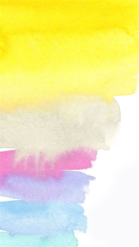 yellow white pink lilac blue watercolour brush strokes art