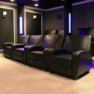 recliner chairs theater home theater recliner black faux leather lounge club chair