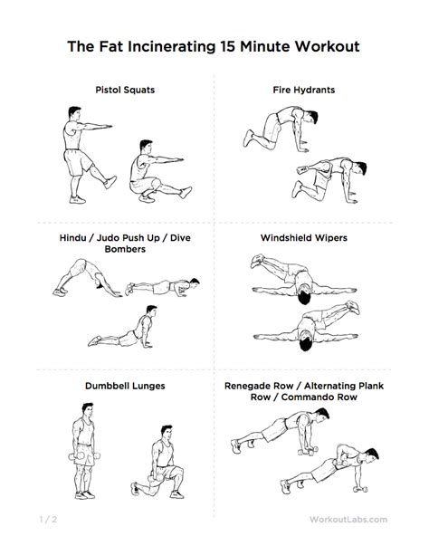 printable workout plan to lose weight the fat incinerating 15 minute workout for weight loss