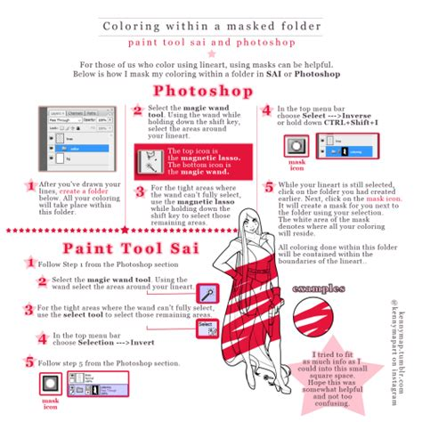 paint tool sai mask tutorial paint tool sai tutorial