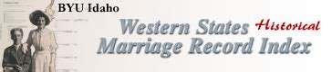 Idaho Marriage Records Search Western States Marriage Search Form