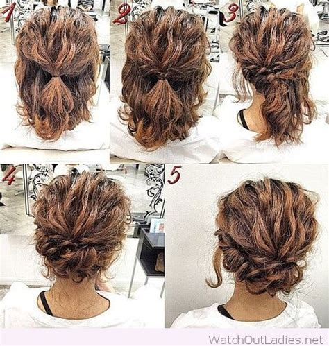 easy updo hairstyle tutorial for best 25 curly updo tutorial ideas on curly