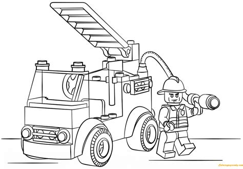 lego monster truck coloring page lego city fire truck coloring page free coloring pages