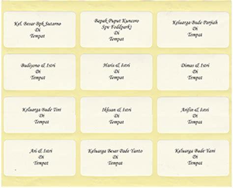 format label undangan 103 chion format label 103 untuk nama dan alamat undangan audyfa